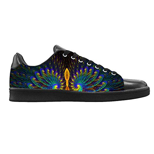 Dalliy sch?ne pfau Men's Canvas shoes Schuhe Lace-up High-top Footwear Sneakers D