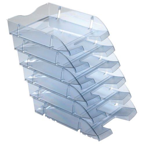 Herlitz 11247228 Ablagekorb A4-C4 space PET-Recylat (  6 Stück im Pack ) grau transluzent