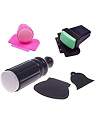 Coscelia Kit Tampon Stamping DIY Ongle Image Nail Art Raclette Plaque Manucure Scraper Outil Set