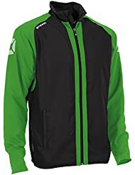 Chaqueta de mujer Stanno Riva Micro (Schwarz-bright color verde), color  - Schwarz-BRIGHT Grn, tamaño XS