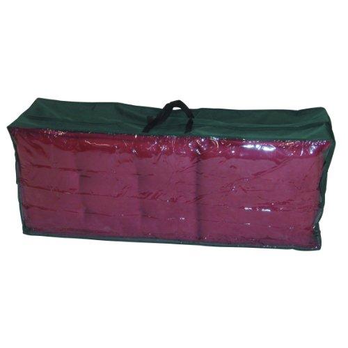 Greemotion Schutzhülle für Kissen und Auflagen wasserabweisend mit Reißverschluß und Fenster, Grün, ca. 125 x 50 x 32 cm -