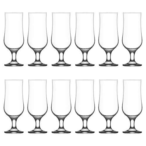 LAV Nevakar Stemmed Biergläser Set - Craft Biere, Ale und Cider - 385ml - Packung mit 12 (Bulk Bier Gläser)