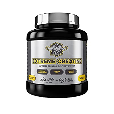 Protein Dynamix Eddie Hall Signature Series Extreme Creatine Powder Drink For Increased Muscle Growth, Strength & Power 590g by Protein Dynamix