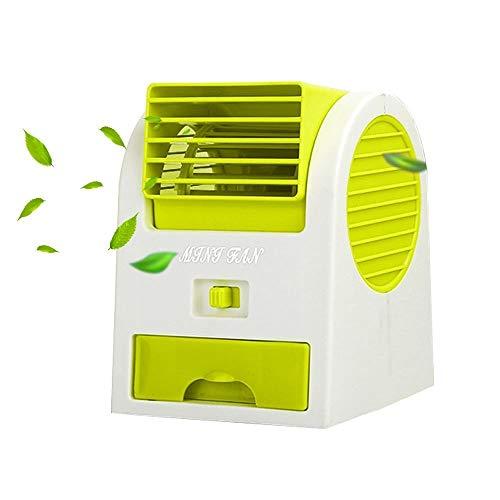 Heimgebrauch Fan Klimaanlagenlüfter, tragbarer USB-Mini-Desktop-Lüfter mit Luftbefeuchter und Luftreiniger, Lüfter for Auto, Haus, Büro, Garten für den heißen Sommer (Color : Green) -