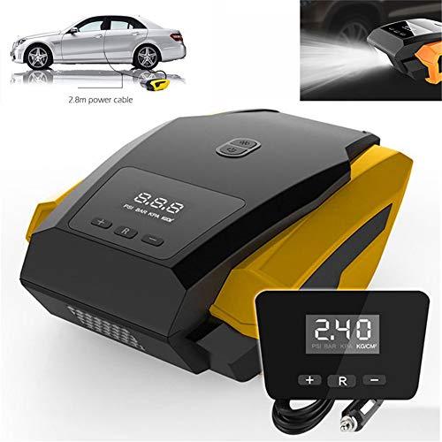 Auto-Luftpumpe Reifen Inflator Kompressor 150PSI Auto Luftkompressor pneumatische aufblasbare eingebaute LED-bewegliche helle aufblasbare Pumpe Auto Motorräder Fahrräder DC 12V (Auto-starter-reifen-inflator)