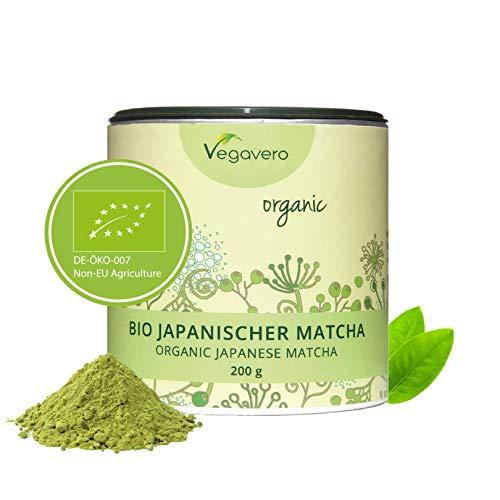 Tè MATCHA Biologico Vegavero® | 200 g | dal GIAPPONE | Relax - Concentrazione - Energia | Senza Additivi | Vegano