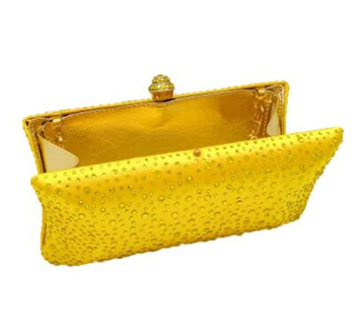 Dame Normallack Diamantpaket Abendtasche Heiße Bohrtasche Braut Hochzeit Brautjungfer Handtasche Mädchen Kuriertasche Yellow