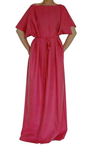 Gummi Kleid / robe. Rosa. X-Lange. Silikon / Latex-mix. Tunika-Stil. Krawatte Gürtel. Größe XL