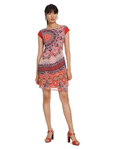 Desigual Damen Dress Short Sleeve Japan Woman RED Kleid, Rot (Rojo Roja 3061), 38