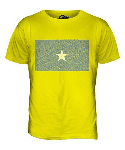 CandyMix Somalia Kritzelte Flagge Herren T Shirt Zitronengelb