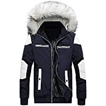 Hombre Abrigo de invierno Mezcla de algodón LILICAT❤ Abrigo medio largo Chaqueta ...
