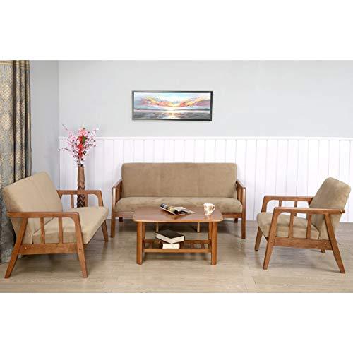 @home by Nilkamal Burke Five Seater Sofa Set 3-1-1 (Coffee)