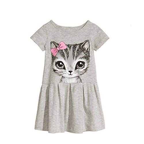 Kids Dresses Girls 2017 Sweater Cotton Flower Shirt Short Summer T-Shirt Vest Big for Maotou Beach Party Dress Gold 7T
