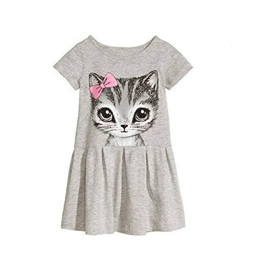 Kids Dresses Girls 2017 Sweater Cotton Flower Shirt Short Summer T-Shirt Vest Big for Maotou Beach Party Dress Gold 7T (Junior-elmo Shirt)