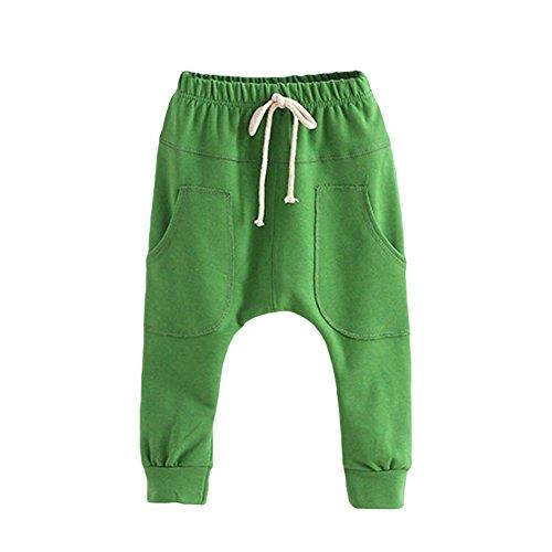 Kinder Jungen Hosen Long Pants-LOSORN ZPY Baby Sommer Baggy Harem Freizeit Sport Hose, Gruen Gr. 120 (4-5Jahre)