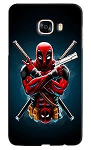 Omnam Superhero In Pose Printed Designer Back Case For Samsung Galaxy C7