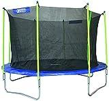 Best Sporting Garten Trampolin Jumper, Ø 366 cm, Outdoor Trampolin mit Sicherheitsnetz, blau