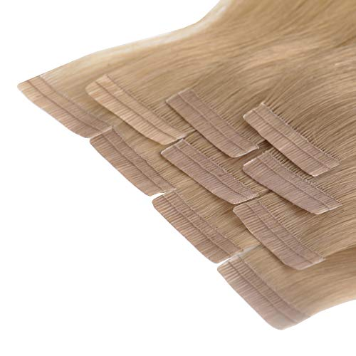 Tape In Extensions 40 cm Virgin Echthaar 10er Set Naturblond