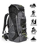 Outlife - Zaino da escursionismo di grandi dimensioni da 60 l, leggero, antistrappo e impermeabile, da trekking, campeggio, viaggi