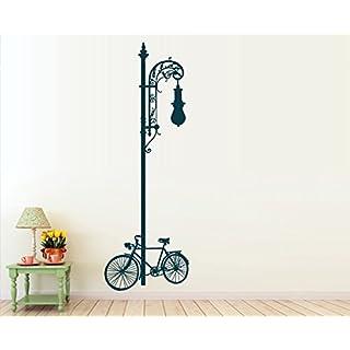 arslinea Wandsticker - Laterne Fahrrad, 132x45cm, Pink