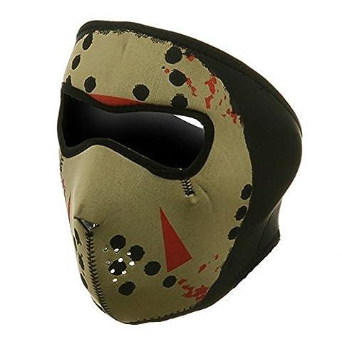 ZAN Headgear Full Face Glow In The Dark JASON HOCKEY MASK Neoprene Facemask by Zanheadgear
