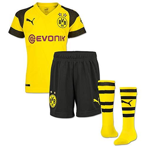 Puma BVB Borussia Dortmund Trikotset für Kleinkinder 18/19, Einzelgrößen:92