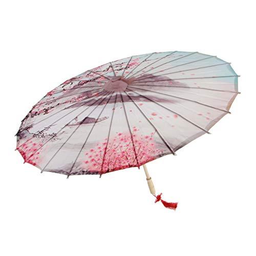 MagiDeal Vintage Regenschirm Sonnenschirm Tanz Schirm Deko Schirm Papierschirm, Chinesischer Stil Muster - 10