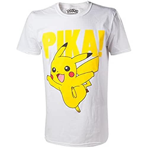 Pokemon Pikachu Camiseta Blanco