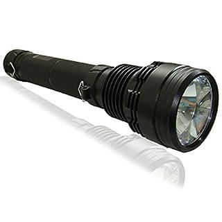 L16 TOP 85W HID Xenon Taschenlampe Flashlight Torch 7800mAH 85W 3Stufe praktisch, Effektive Leuchtweite bis zu 2.000m, Wasserfestes Gehäuse: IPX3, ca. 1,3kg (inkl. Akku), Farbe Schwarz