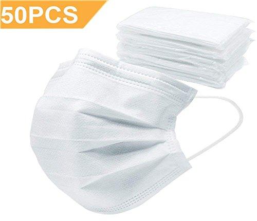 50 Packung Einweg Mundschutz Atmungs Gesichtsmasken Staubfilter Masken -
