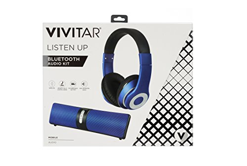 8a185069b59 Vivitar VHPS15317-BLU-INT Wired Headset with Bluetooth Speaker, Charger for  MP3 / MP4 Player / iPod / Smartphone / iPhone / Tablet / iPad - Blue - Buy  ...