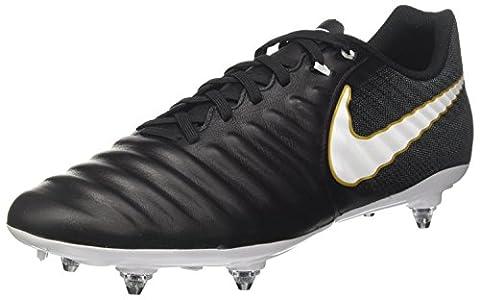 Nike Herren Tiempo Ligera IV SG Fußballschuhe, Schwarz (Black/White/Black/Metallic Vivid Gold), 44.5 EU