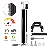 Best Bike Pump With Gauges - Mini Bike Pump with Pressure Gauge Alloy Bicycle Review