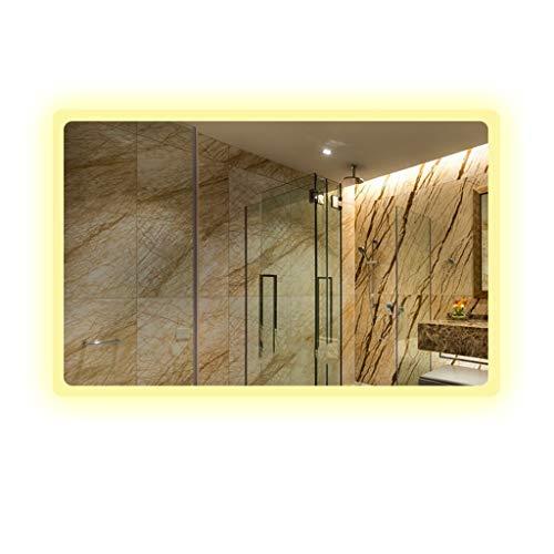 Miroirs Le De Mur A Mené Le De Salle De Bains Anti-buée De De Salle De Bains avec Le Carré De De Salle De Bains De Lumière (Color : Silver, Size : 60 * 80 * 3cm)