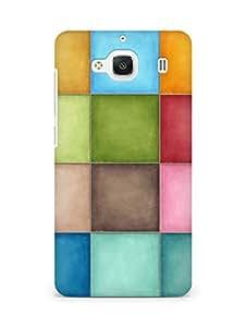 Amez designer printed 3d premium high quality back case cover for Xiaomi Redmi 2 (Pastel squares)