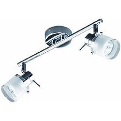 Briloner Leuchten 2134-028 - Lámpara de pared para baño (230 V, 2 luces GU10), color cromo