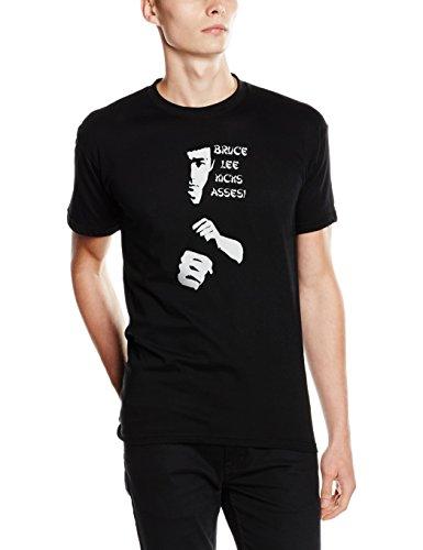 Shirtzshop T Shirt Best of 03 Bruce Lee Kicks Asses Schwarz, XXXL -