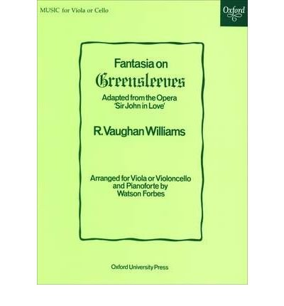 [(Fantasia on Greensleeves: Viola or Cello Solo and Piano)] [Author: Ralph Vaughan Williams] published on (June, 1947)