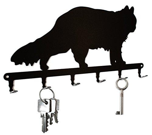 Schlüsselbrett / Hakenleiste * Maine Coon * - Schlüsselboard Katze, Schlüsselleiste, Metall - 6 Haken