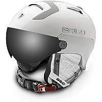 Briko Stromboli Visor 1V, casco de ski Unisex adulto, Unisex adulto, Stromboli Visor 1V, A75Matt/White