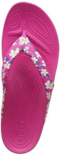 Crocs Kadee II Seasonal Flip W Scarpe da Spiaggia e Piscina Donna, Multicolore (Floral/Candy Pink 000) 37/38 EU