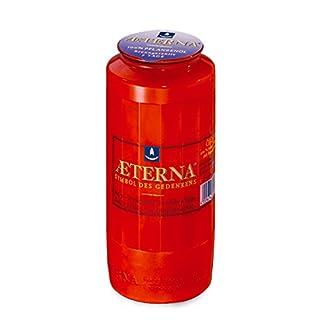20 Stück Grablichter Rot, ca. 7 Tage Brenndauer, 15x6,5 cm - Öllichte für Grablaternen - 3780