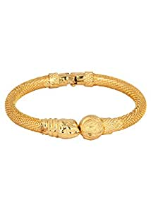 Vama Collections One Gram Gold Plated Lion's Face Bracelet Bangle kada For Women