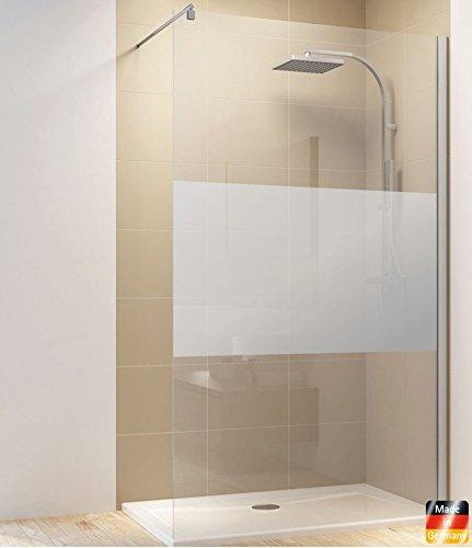 Dusche Duschkabine Walk In Duschwand Duschabtrennung Glas (900 x 2000 mm, Streifendekor)