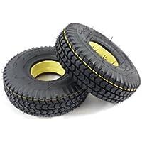 Par de 3.00 - 4 (260 x 85) (300 x 4) negro sólido (Good Care) movilidad Scooter neumáticos