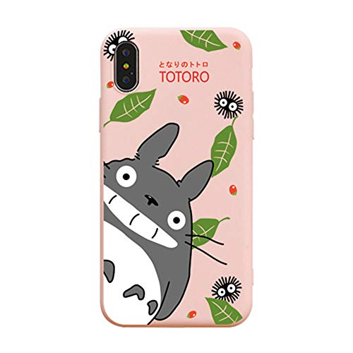 iPhone XS Max Hülle, für iPhone XS Max Cover, Cute Cartoon Anime My Neighbor Totoro Full Print Soft Case Cover for iPhone XS Max XR 6S 7 8 Plus, for iPhone 7 Plus/8 Plus, Rose (Iphone 6 Soft Case Cartoon)