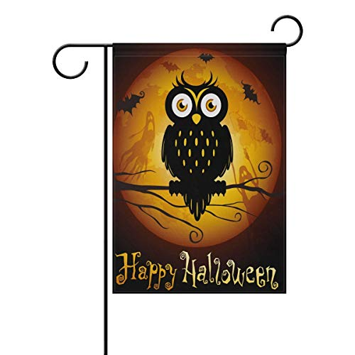 in The Full Moon Double Sided Polyester Garden Flag, Winter Halloween Holiday Decorative Flag for Party Yard Home Decor(Size: 28inch W X 40inch H) ()