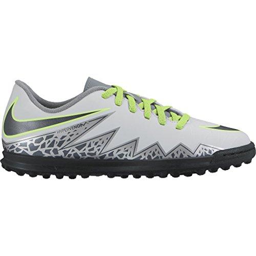 Nike Jungen Jr Hypervenom Phade Ii Tf Fußballschuhe Plateado (Pure Platinum / Black-Ghost Green)