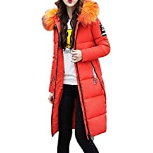 05245d7e094f1 Mujer Plumas Largos Tallas Grandes Abrigo Acolchado Otoño Invierno Modernas  Chaqueta Acolchada Encapuchado Elegantes Moda Outerwear