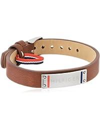 Tommy Hilfiger Herren-Armband Edelstahl Leder 22 cm-2700